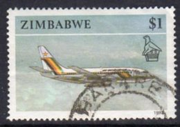 Zimbabwe 1990 Definitives $1 Aeroplane Value, Used, SG 784 (BA) - Zimbabwe (1980-...)