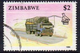 Zimbabwe 1990 Definitives $2 Lorry Truck Value, Used, SG 785 (BA) - Zimbabwe (1980-...)