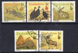 Zimbabwe 1990 Definitives 1-5c Perf. 14½ Values, Used, SG 768a/71a (BA) - Zimbabwe (1980-...)