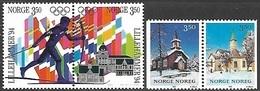 Norway   1993   Sc#1048a  Olympics Pair/set & #1050a Christmas Set  MNH   2016 Scott Value $5.75 - Norvège