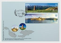 Kirgizië / Kyrgyzstan -  Postfris / MNH - FDC Joint-Issue Malta 2018 - Kirgizië