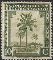 BELGIAN CONGO 1942 Oil Palms - 10c - Olive MNG - Belgisch-Kongo