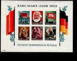 DDR Block 008 B Karl Marx  Mint * MLH - Blocks & Kleinbögen