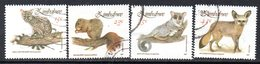Zimbabwe 1991 Small Mammals Set Of 4, Used, SG 800/3 (BA) - Zimbabwe (1980-...)