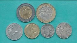 San Marino - 1998 - 10, 20, 50, 100, 500 & 1000 Lire (KMs 378-381; 383 & 384) - Saint-Marin