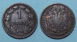 Österreich - Austria 1 Kreuzer Münze 1881      (17867 - Oesterreich