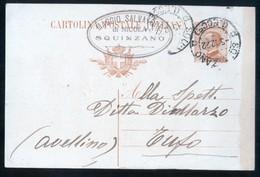 """SQUINZANO - LECCE - 1922 - CARTOLINA COMMERCIALE CON TIMBRO  DITTA """"MAGGIO SALVATORE"""" - Negozi"""