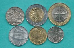 San Marino - 1999 - 10, 20, 50, 100, 500 & 1000 Lire (KMs 389-392; 394 & 395) - Saint-Marin