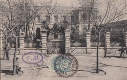 ALGERIE CP 1908 AIN BEN KHELIL FACTEUR BOITIER T 84 SUR 5C BLANC INDICE 9  COTE 60 EUROS - Marcophilie (Lettres)