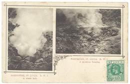 Cpa Antilles - Sainte Lucie / St Lucia - Soufrière - A Steam Hole / A Cauldron Forming ( Volcan ) - Sainte-Lucie