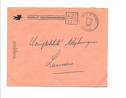 LETTRE DE SERVICE DE LYONS LA FORET EURE 1965 CACHET CODé - Marcophilie (Lettres)