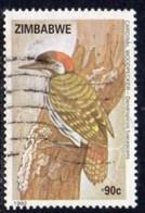 Zimbabwe 1992 Birds Woodpecker 90c Value, Used, SG 835 (BA) - Zimbabwe (1980-...)