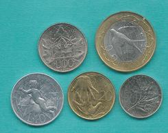 San Marino - 2000 - 10, 20, 50, 100 & 1000 Lire (KMs 399-402 & 405) - Saint-Marin