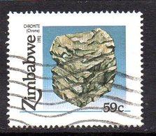 Zimbabwe 1993 Minerals Chrome 59c Value, Used, SG 845 (BA) - Zimbabwe (1980-...)