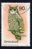 Zimbabwe 1993 Owls II Eagle Owl 90c Value, Used, SG 852 (BA) - Zimbabwe (1980-...)