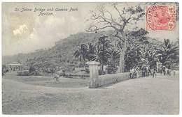 Cpa Antilles - Grenada / Grenade - St Johns Bridge And Queens Park Pavilion - Grenada