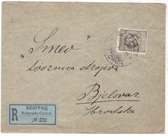 # 9269 Serbia, Belgrade Firm Cover Registered Mailed To Bjelovar 1919: King Peter I. - Serbie