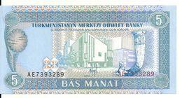 TURKMENISTAN 5 MANAT ND1993 UNC P 2 - Turkménistan