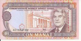 TURKMENISTAN 10 MANAT ND1993 UNC P 3 - Turkménistan