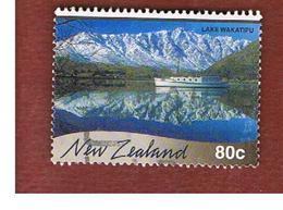 NUOVA ZELANDA (NEW ZEALAND) - SG 2337  -  2000 SCENIC REFLECTIONS: LAKE WAKATIPU  -  USED° - Usati