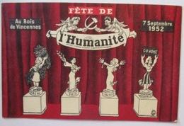 Zeitung Presse, Fete De Humanite 1952 (12118) - Parteien & Wahlen