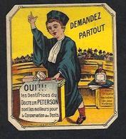 Carte Parfumée étiquette Parfum Publicité Publicitaire Dentifrice Dentist Dent Dentiste Dentistry 6 X 7 - Oud (tot 1960)