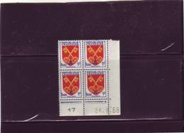 N° 1047- 1F Blason Du COMTAT VENAISSIN - D De C+D - 2° Tirage  Du 26.8 Au 29.8.58 - 28.08.1958 - - Coins Datés