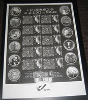 4095** Bloc 119** STERRENBEELDEN - ZODIAC - LES 12 SIGNES DU ZODIAQUE - En Noir Et Blanc - Feuillets Noir & Blanc