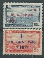 Algérie P. A. N° 7 / 8 XX  Timbres Surchargés : Les 2 Valeurs Sans Charnière, TB - Algérie (1924-1962)