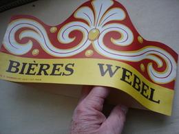 BIERE WEBEL Chapeau Publicitaire Brasserie WEBEL TOURS Indre Et Loire (37) Disparue Aujourd'hui - Other Collections