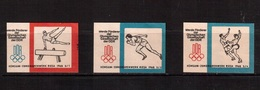 Vignette, Germany(DDR) ,Olympic Games 1968, (3 Psc.)poster Stamp,cinderella,label(without Glue) - Sommer 1968: Mexico