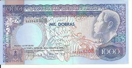 SAO TOME ET PRINCIPE 1000 DOBRAS 1993 UNC P 64 - Sao Tomé Et Principe