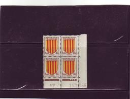 N° 1046 - 80c Blason Du ROUSSILLON - A De A+B - 1° Tirage Du 11.10 Au 13.10.55 - 13.10.1955 - - Coins Datés