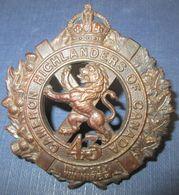 Cap Badge Canada WW1 43th Bat.CEF - 1914-18