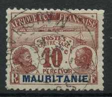 Mauritanie (1906) Taxe 10 (o) - Oblitérés
