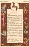 -ref-B72- Astrologie - Horoscope - Zodiaque - Capricorne - Verso Publicité Mme Robert - Faubourg Saint Denis - Paris 10e - Astrologie