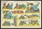 Mortiers Mitrailleuses Soldats Pour Jouer à Découper 1958 Soldados Recortables España Toy Soldiers Cut-Out Paper Army - Découpis