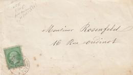 LETTRE. DEVANT. 9 JUIN 1873. N° 35 SEUL SUR LETTRE. PARIS RUE TAITBOUT - 1849-1876: Klassik