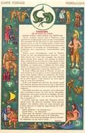 -ref-B69- Astrologie - Horoscope - Zodiaque - Poissons - Carte Bon Etat - - Astrologie