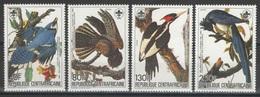 République Centrafricaine - YT 662-665 ** - 1985 - Oiseaux - Audubon - Perroquets & Tropicaux