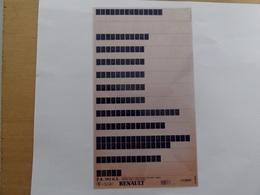 Microfiche Renault Pieces Detachees GPL  1987>  Pr502 Tous Modeles - Autres Collections