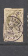 COB 75 Oblitéré ANVERS 1C - 1905 Grosse Barbe