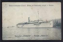 SHIP SCHIFFE AUSTRIA LLOYD DAMPFER THALIA IN TRIEST ITALY OLD PC#257 - Dampfer