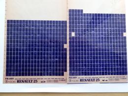 Microfiche Renault  25  1989>1990 Lot De 2  B298 294 Etc - Autres Collections
