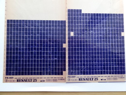 Microfiche Renault  25  1989>1990 Lot De 2  B298 294 Etc - Visionneuses Stéréoscopiques