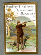CHROMO HUNTLEY & PALMERS Chasseur Chasse Hunter SPORT Hunting 1880' Victorian Trade Card - Confiserie & Biscuits
