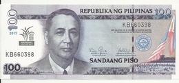 PHILIPPINES 100 PISO 2013 UNC P 220 - Philippines