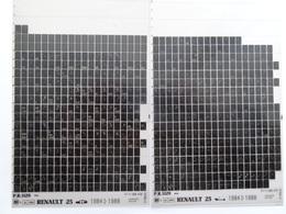 Microfiche Renault  25  B29.  1984>1988 Lot De 2  Pr1129 - Visionneuses Stéréoscopiques