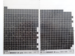 Microfiche Renault  25  B29.  1984>1988 Lot De 2  Pr1129 - Stereoscoopen