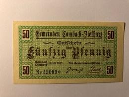 Allemagne Notgeld Tambach 50 Pfennig - [ 3] 1918-1933 : République De Weimar